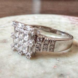 Natural White Zircon Ring